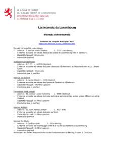 Liste des internats du Luxembourg