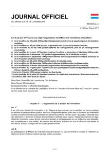 Journal officiel du Grand-Duché de Luxembourg